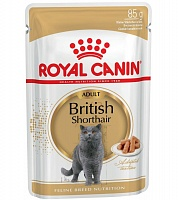 Royal Canin Pouch British Shorthair Adult в соусе, 85 гр