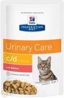 Hill's Prescription Diet Pouch c/d Multicare Feline с лососем, 85 гр