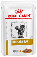 Royal Canin Veterinary Diet Pouch Urinary S/O Feline с курицей в соусе, 85 гр
