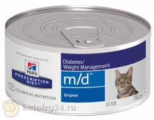 Hill's Prescription Diet m/d Feline фарш с печенью 156 гр