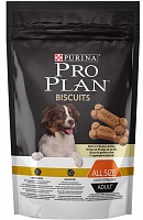 Purina Pro Plan All Size Light/Sterilised Adult Biscuits с курицей и рисом, 400 гр