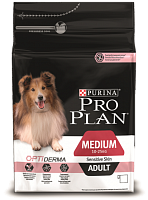 Purina Pro Plan Medium Adult Sensitive Skin с лососем и рисом