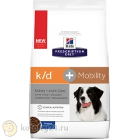 Hill's Prescription Diet k/d + Mobility Canine Original 12 кг